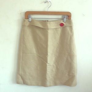 Magaschoni beige skirt, above knee, lined